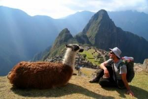 14719526-de-turismo-y-la-llama-sentado-frente-a-machu-picchu-peru